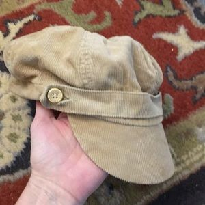 Corduroy train hat